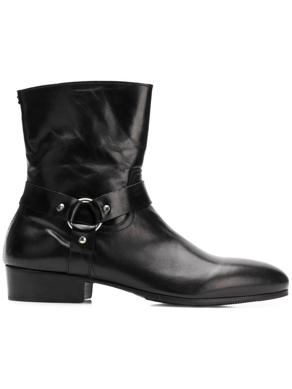 76be5a16fbf8c Leqarant low heel boots - Black - Glami.sk