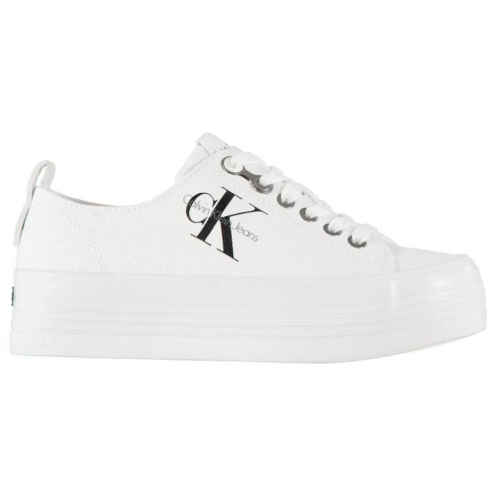 c15e7c196d Dámské boty Calvin Klein Zolah na platformě Bílé - Glami.cz
