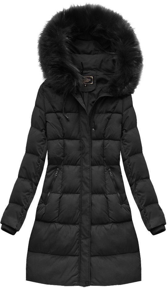 Libland Čierna dámska zimná bunda 7757BIG - Glami.sk ffee32ee053