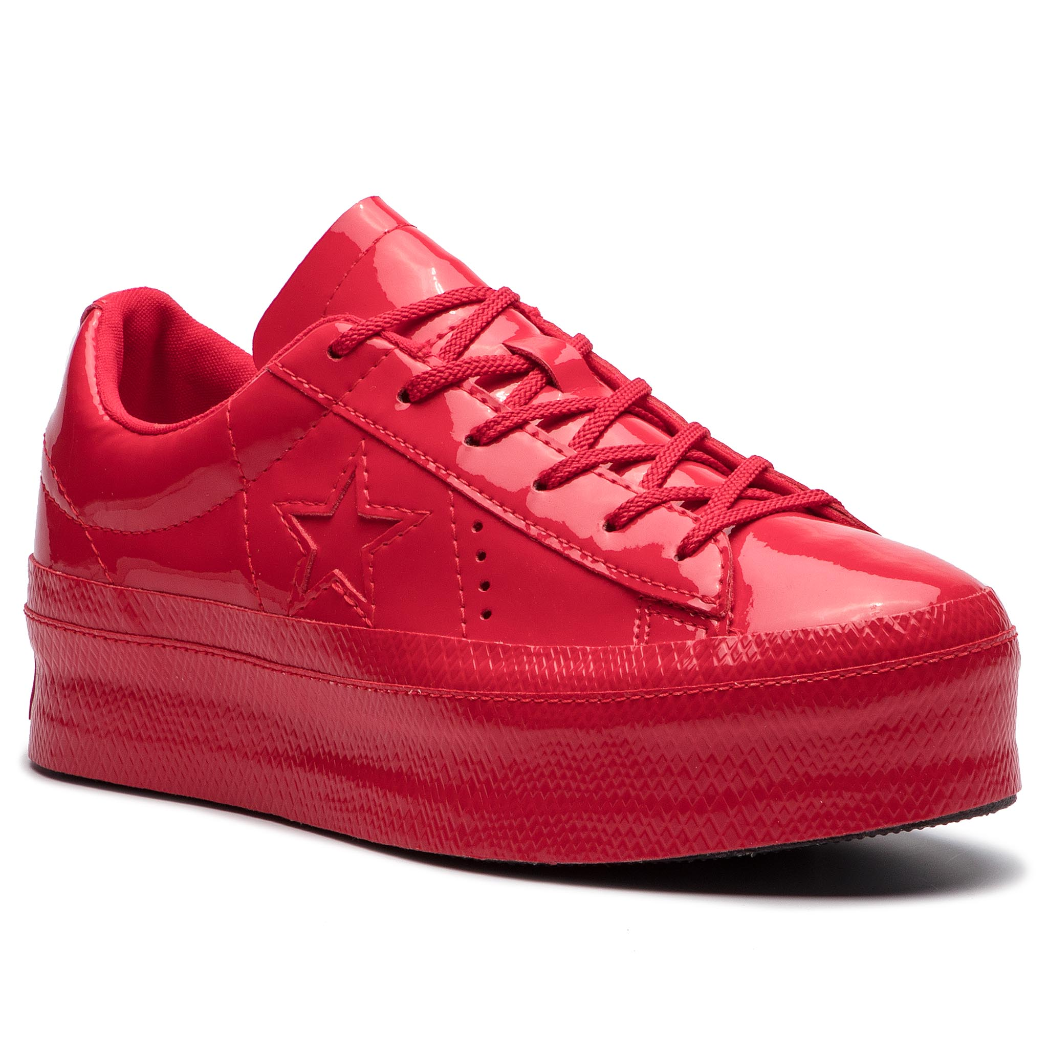 Sneakersy CONVERSE - One Star Platform Ox 562606C Cherry Red Cherry ... bdcb30f7977