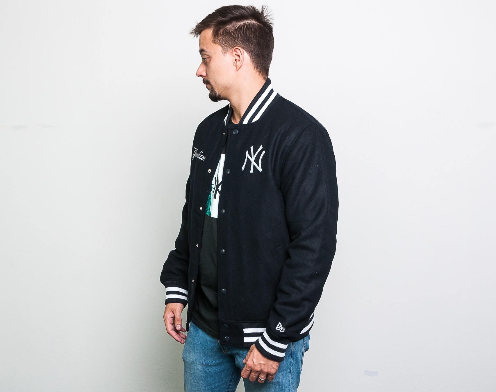 1f26fa78b Bunda New Era New York Yankees MLB Team Apparel Bomber Dark Navy