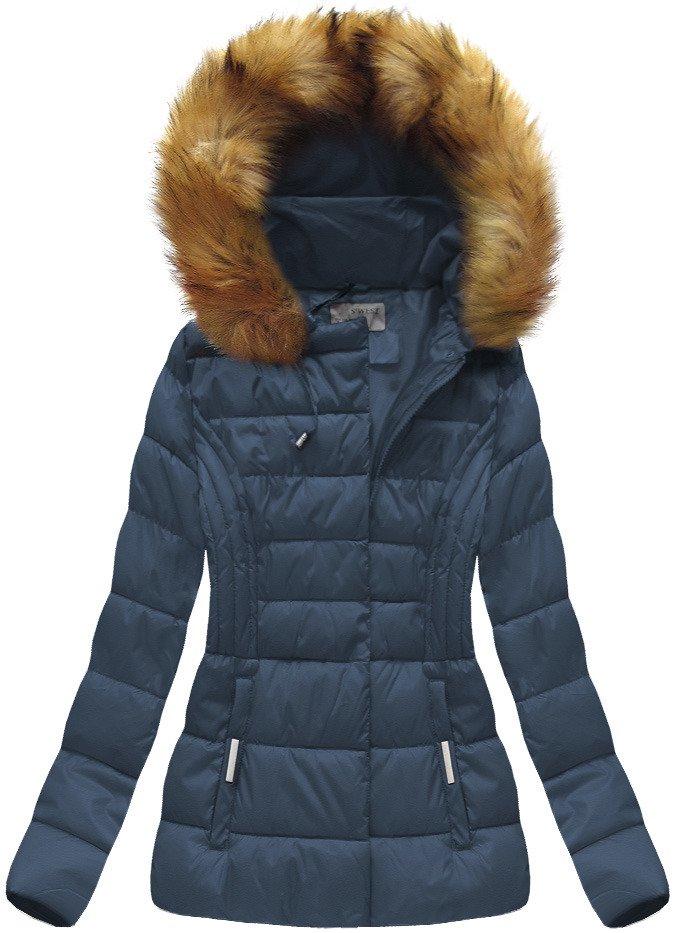 S WEST Tmavo modrá dámska bunda s kapucňou (B1032-30) - Glami.sk 22c078fb956