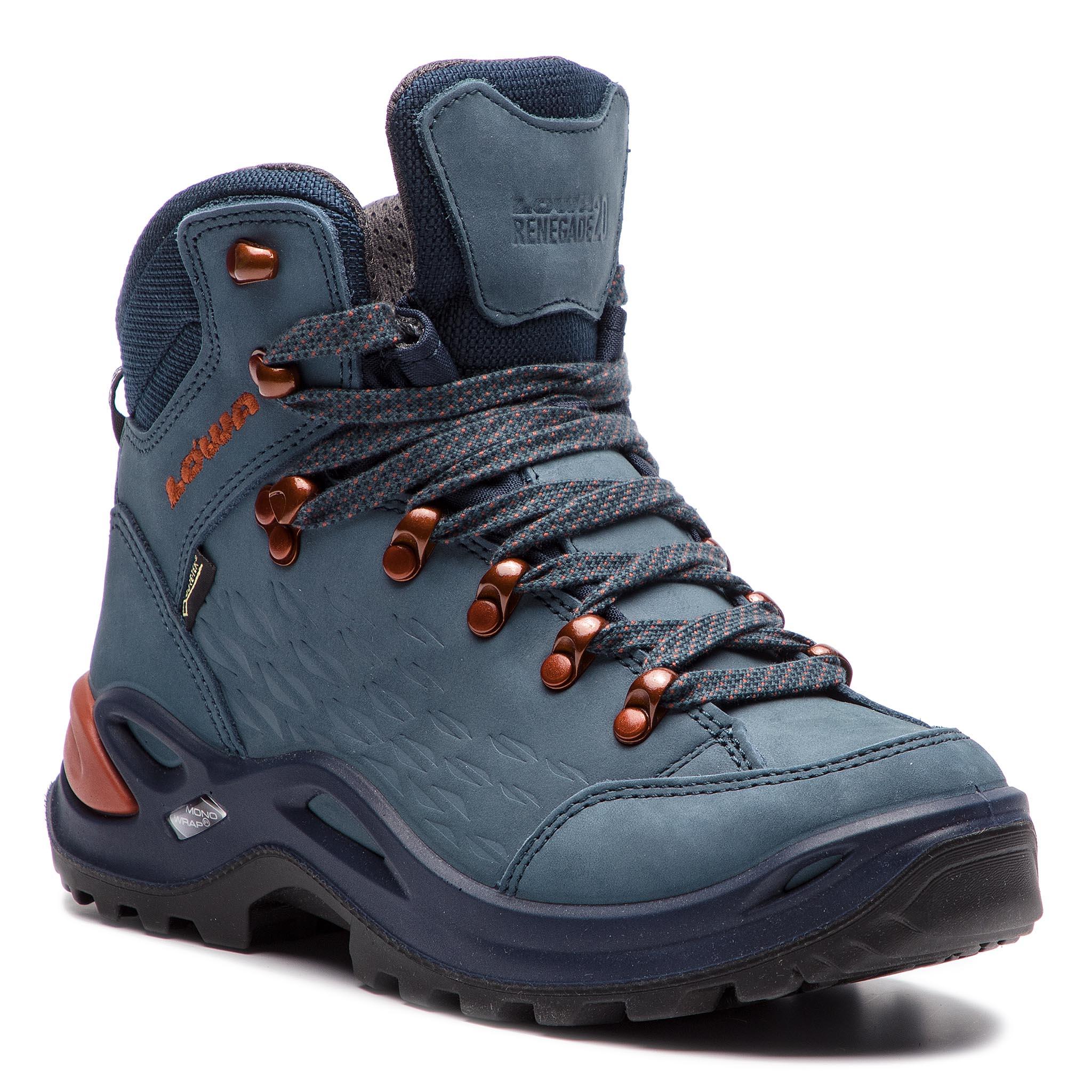 Trekingová obuv LOWA - Renegade Gtx Mid Ws GORE-TEX 320920 Iceblue ... 6d932bbcbb5