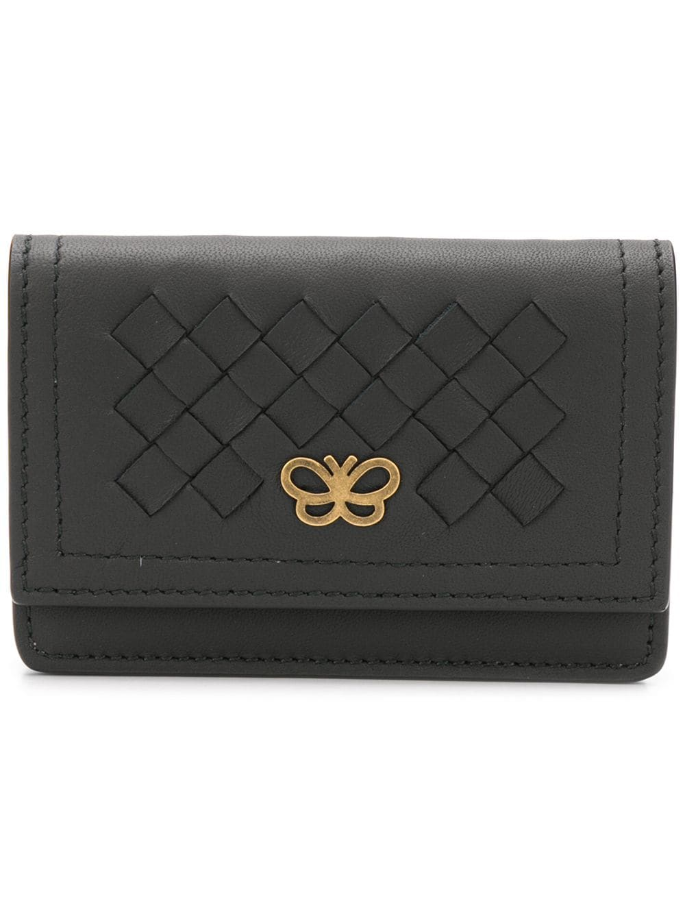 b555a5df47e3 Bottega Veneta woven leather wallet - Black - Glami.hu