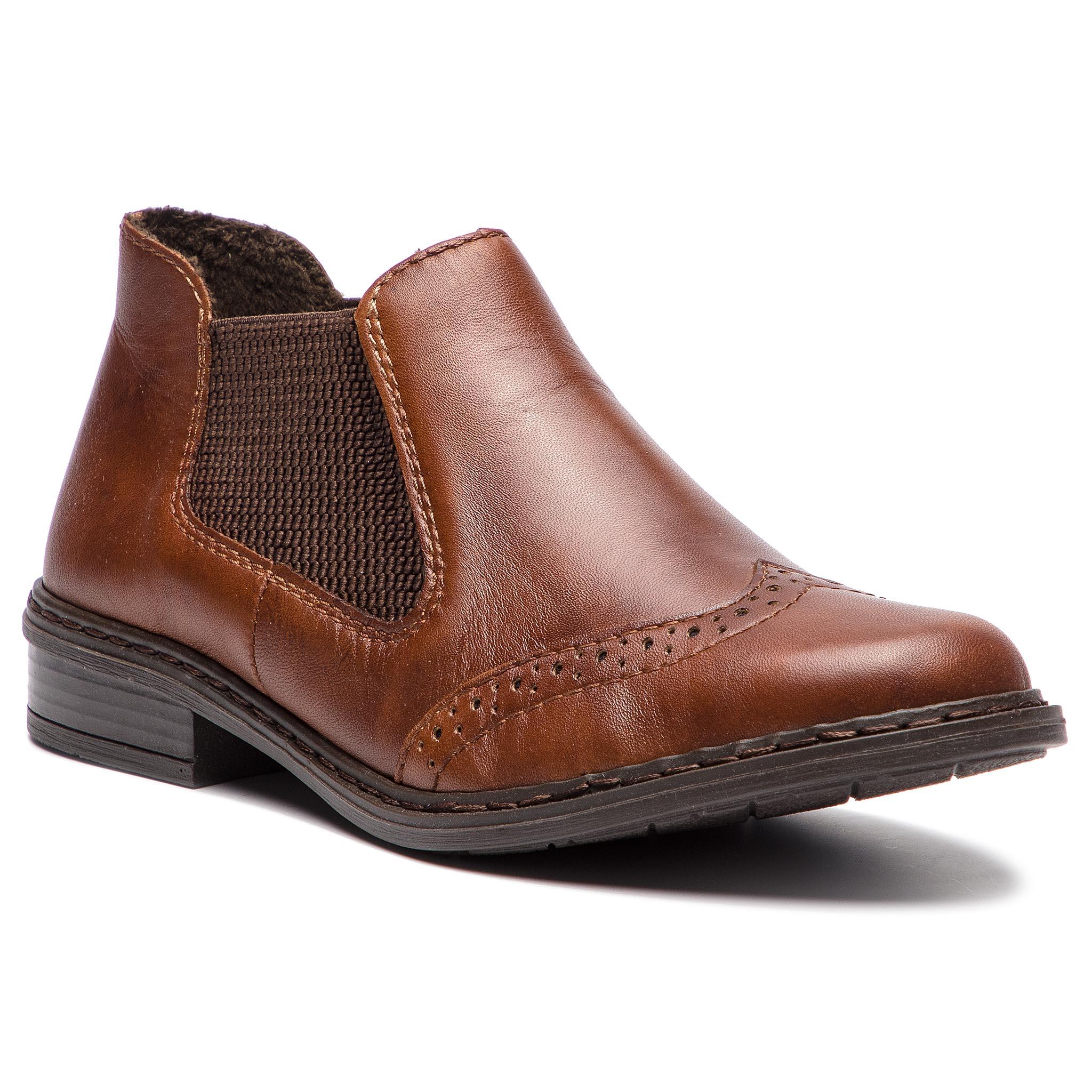 Kotníková obuv s elastickým prvkom RIEKER - 52093-22 Braun. Nové Kotníková  obuv s elastickým prvkom ... 5a7c93bd512