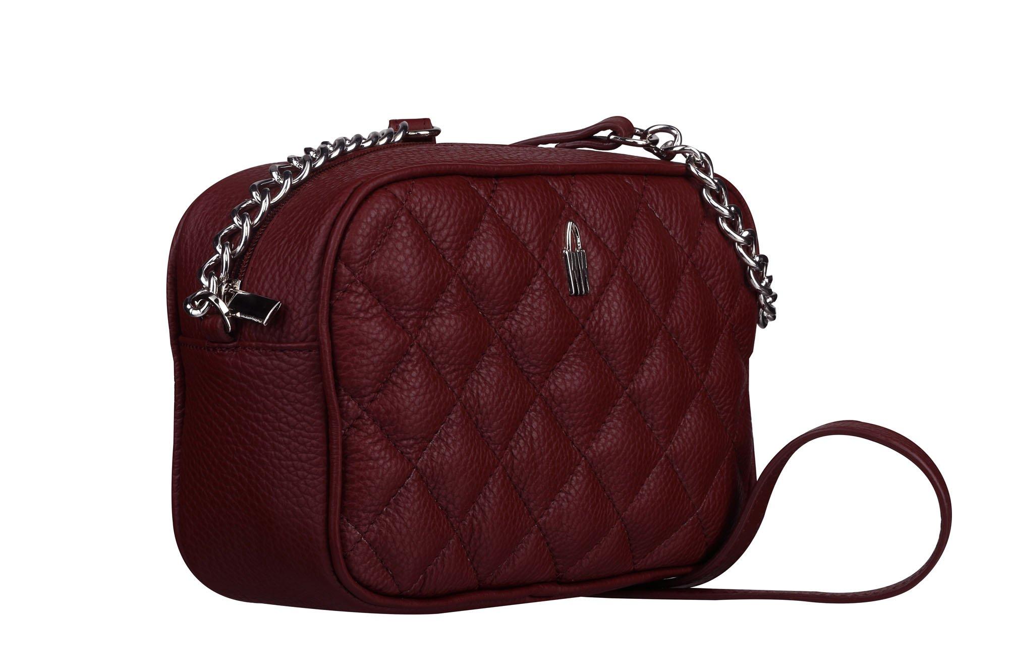 ecf9548e75 Malé luxusné kožené kabelky crossbody Wojewodzic bordové 31747 P ...