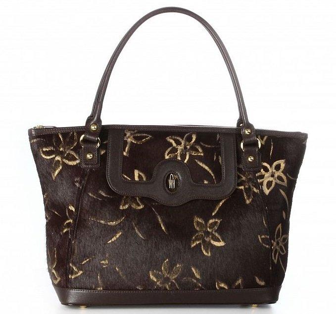 Kožená kabelka na rameno luxusná hnedá Wojewodzic 3GOLD005 HK03 ES03 ... 14228265596
