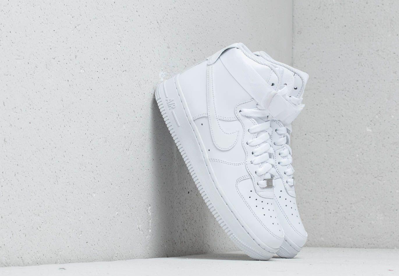 Nike Wmns Air Force 1 High White  White-White - Glami.sk 085c0bd160f