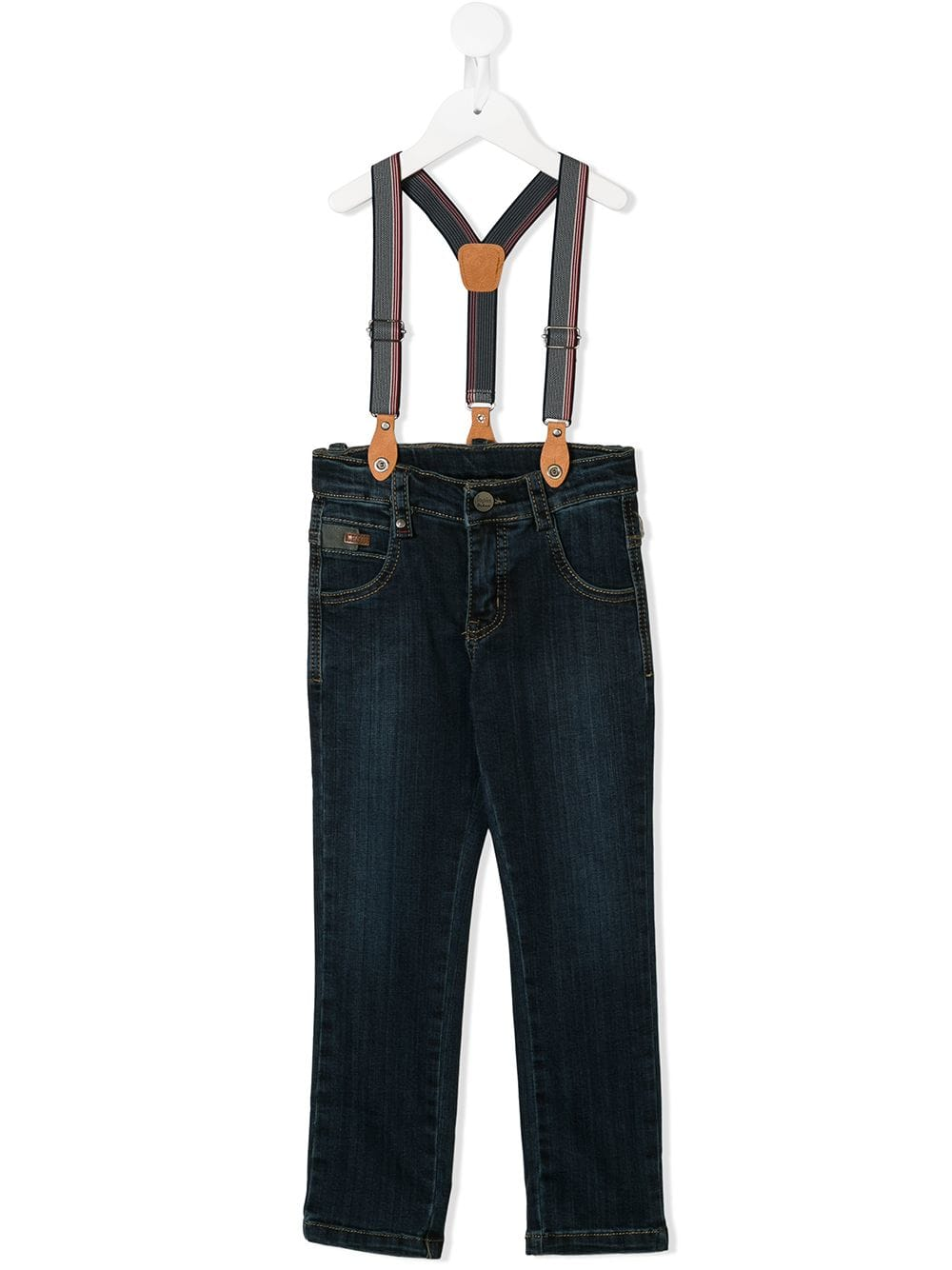 Lapin House slim-fit suspender jeans - Blue - Glami.sk 0777dc71007