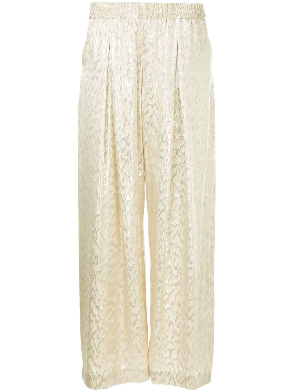 b320b67236d Layeur patterned wide leg trousers - Metallic - Glami.cz