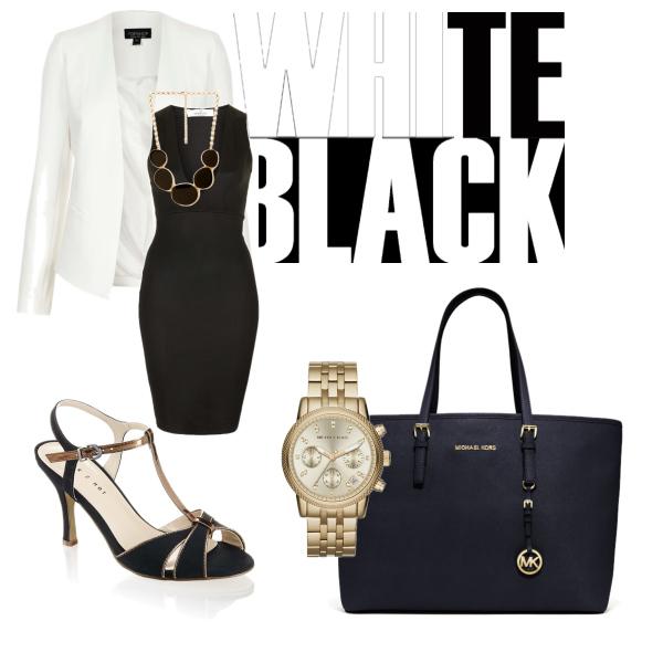 black,white,gold♥