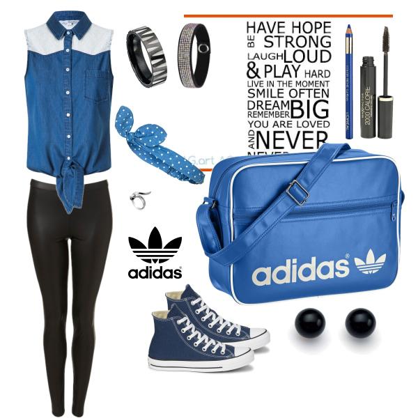 Modrá džínová :)