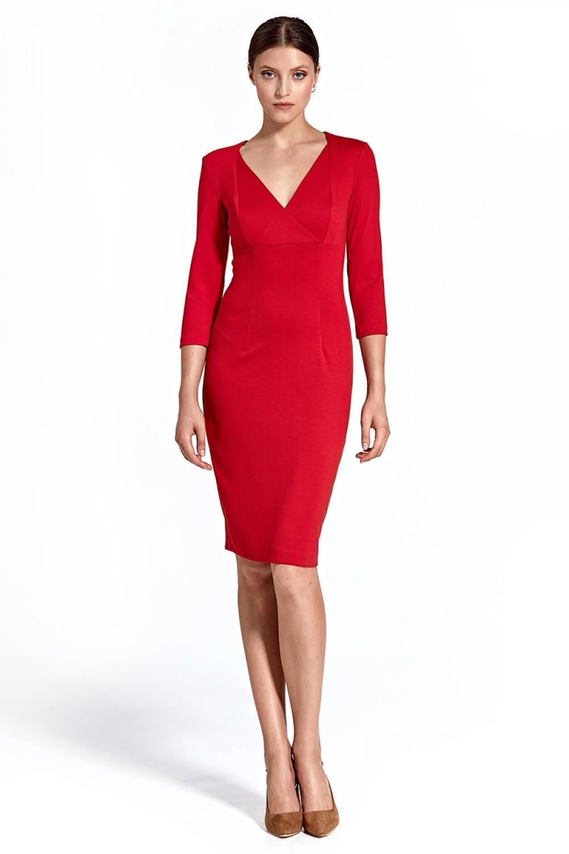 2b59a6c3ad79 Dámske šaty Colett cs26 - červené - Glami.sk