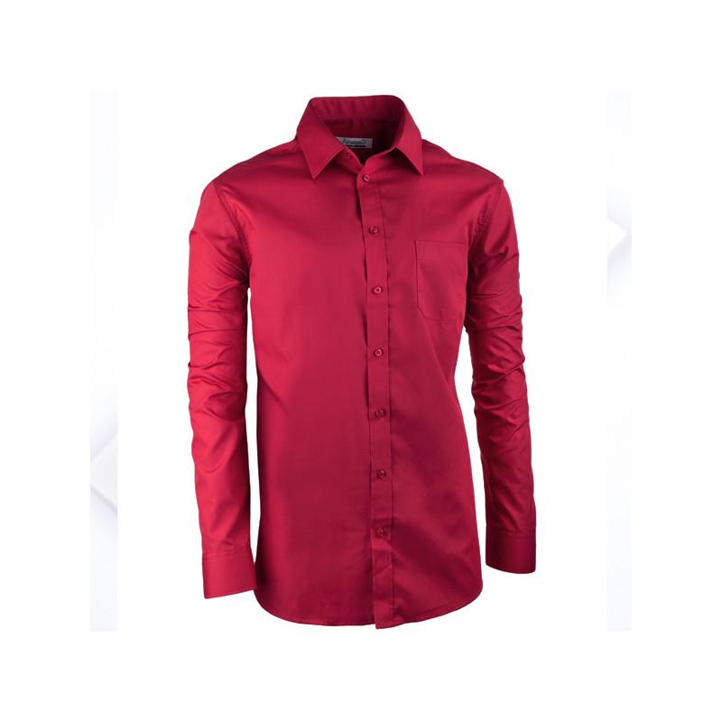 121b7b13d13d Arangad Bordó pánska košeľa slim s dlhým rukávom Aramgad 30385 ...