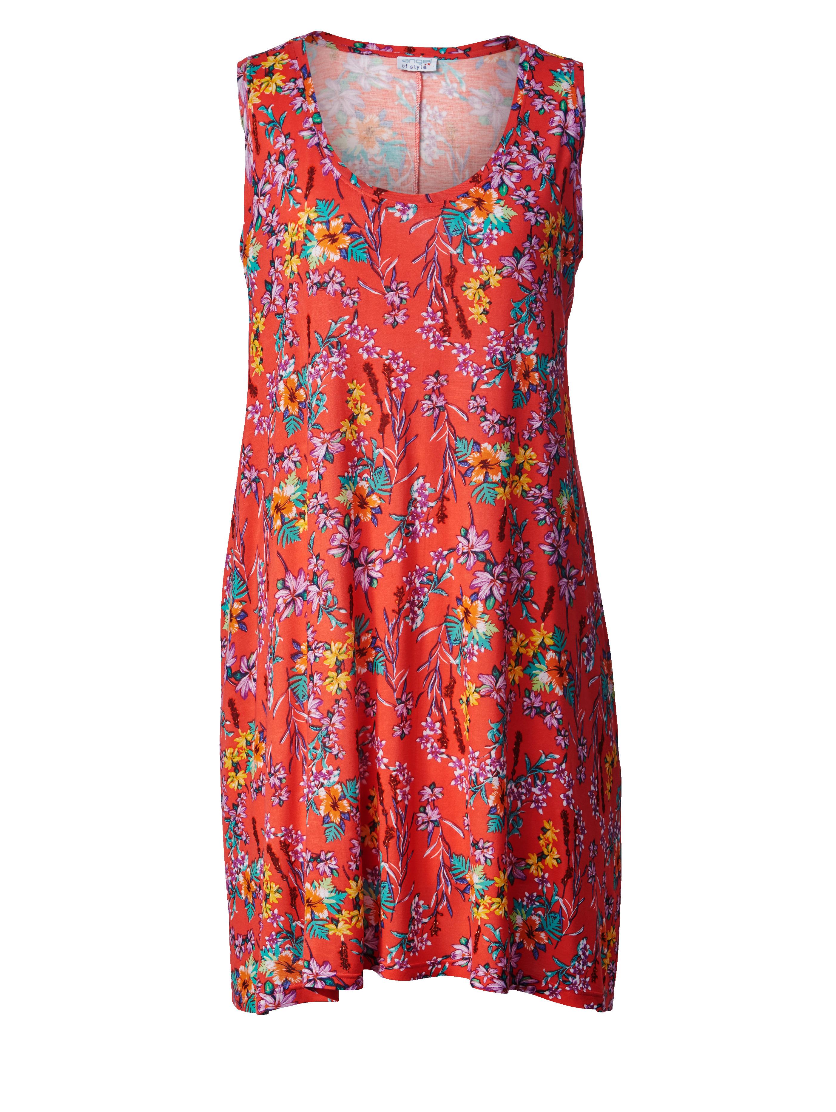 Jersey šaty s kvetinovou potlačou Angel of Style Červená - Glami.sk 10a48dbda9b