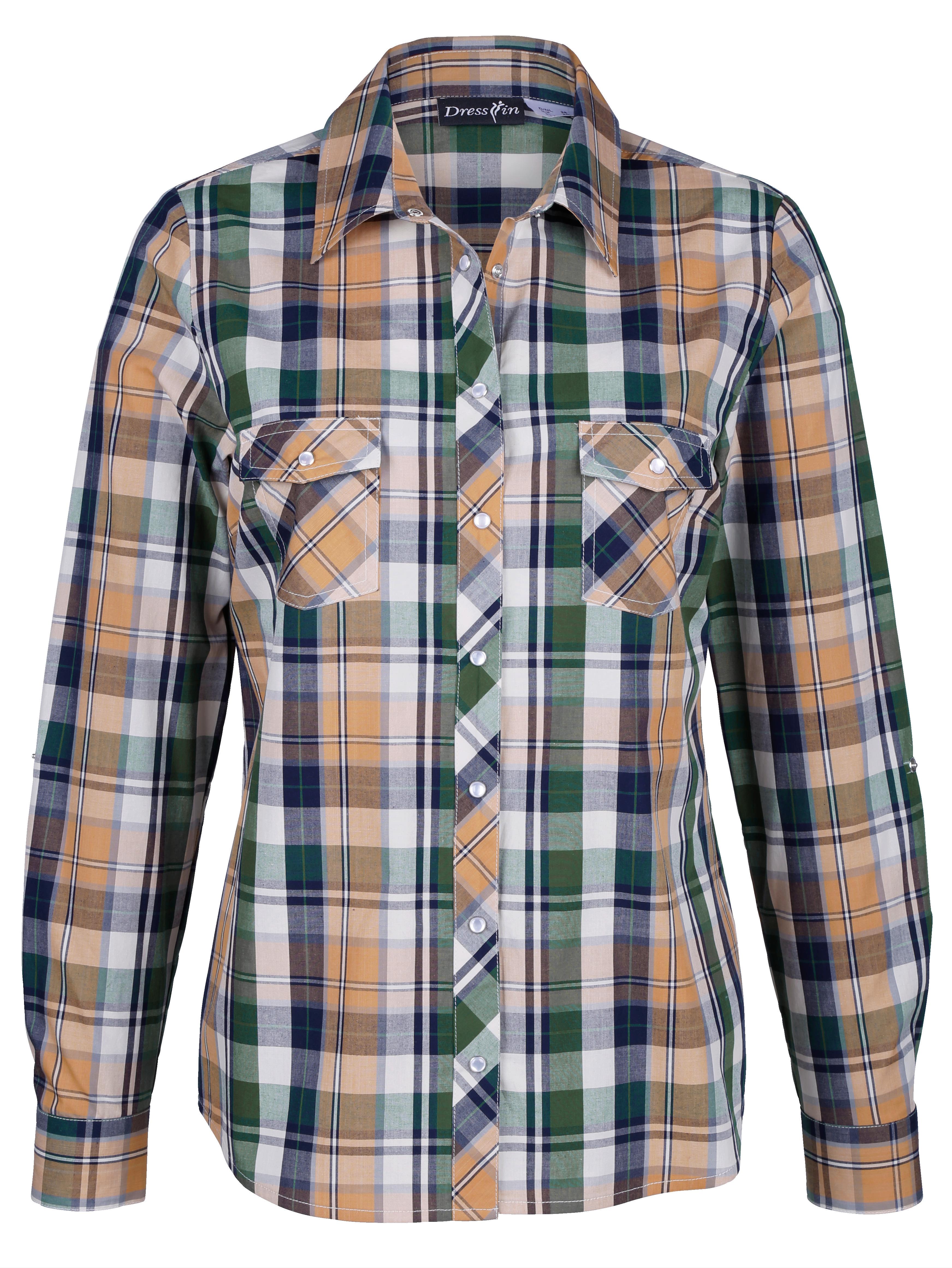 185dfb964627 Károvaná blúzka Dress In Zelená - Glami.sk
