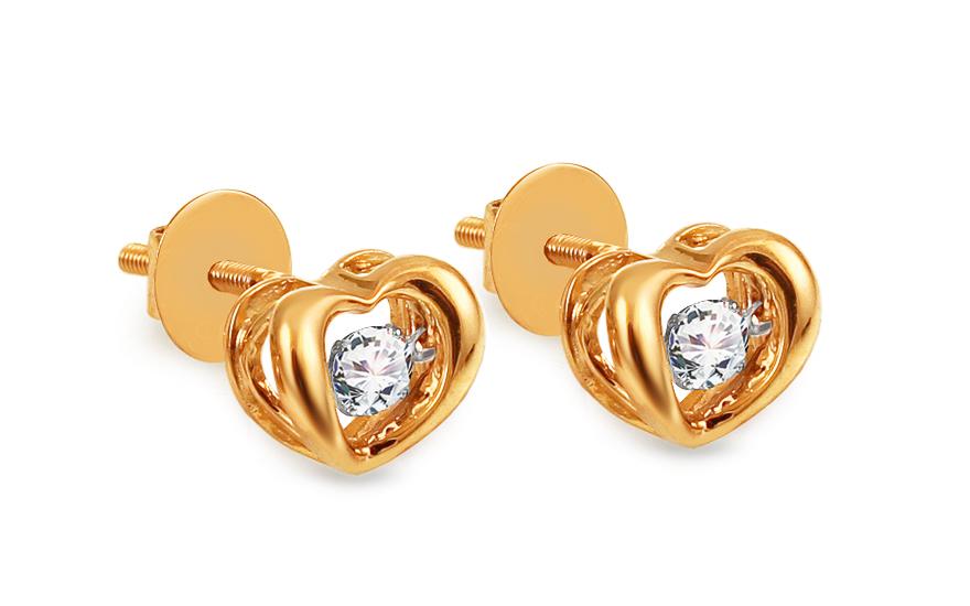 98cbcee54 iZlato Forever Diamantové náušnice 0,270 ct Dancing Diamonds KU901N ...