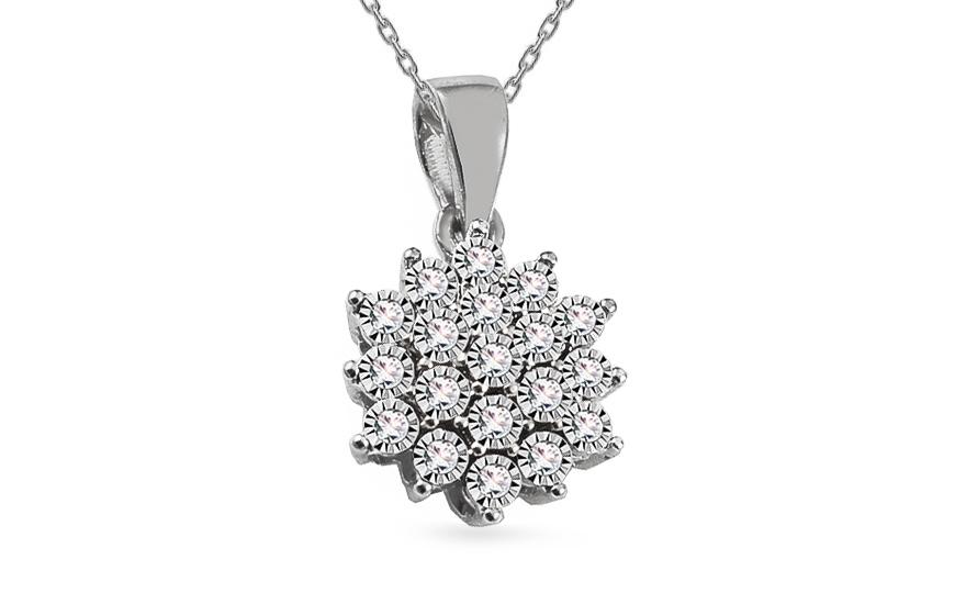 f261bc019 iZlato Forever Diamantový prívesok z bieleho zlata 0.080 ct Avalee  ROYBR110AP. 1