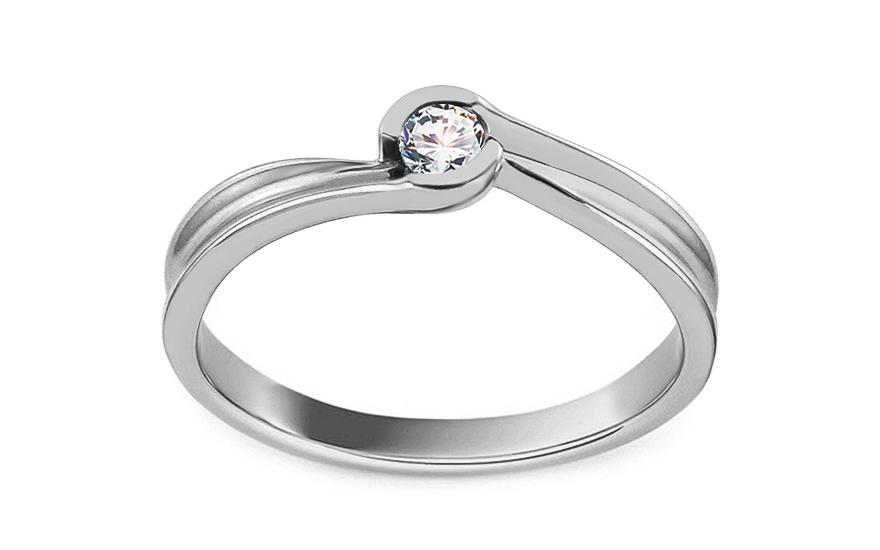 009ec731b iZlato Forever Zásnubní prsten z bílého zlata s diamantem 0,080 ct Alurea  ROYBR100A. 1