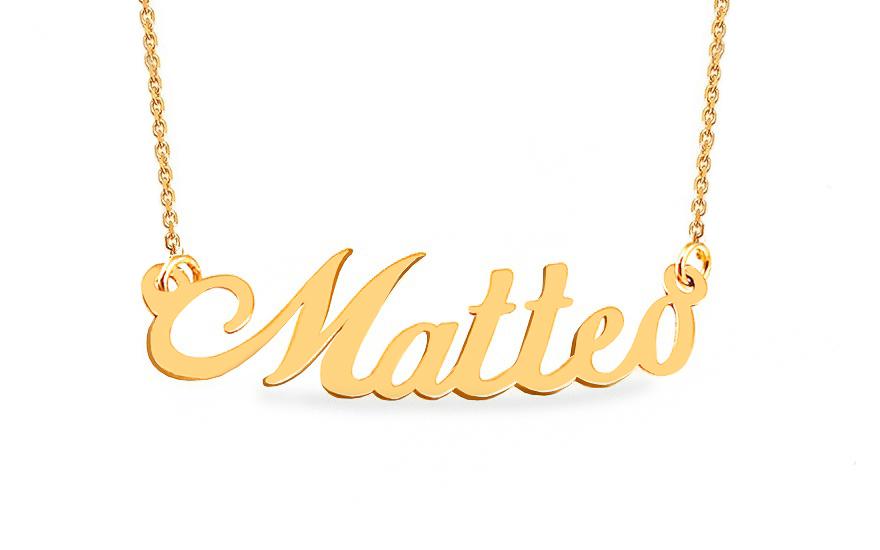 e085c5e2c iZlato Forever Zlatý řetízek se jménem Matteo IZ9072 - Glami.cz