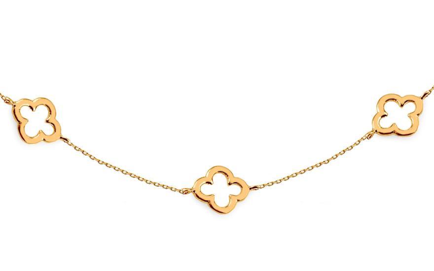 9824a5dfa iZlato Forever Zlatý náhrdelník Choker se čtyřlístky IZ14346 - Glami.cz
