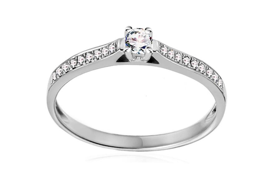 e0e809afc iZlato Forever Zlatý zásnubní prsten s diamanty 0,150 ct Adel white  IZBR404A. 1