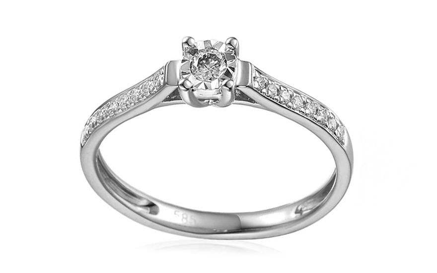 d1574246a iZlato Forever Zlatý zásnubní prsten s diamanty Fannie white IZBR037AMK. 1