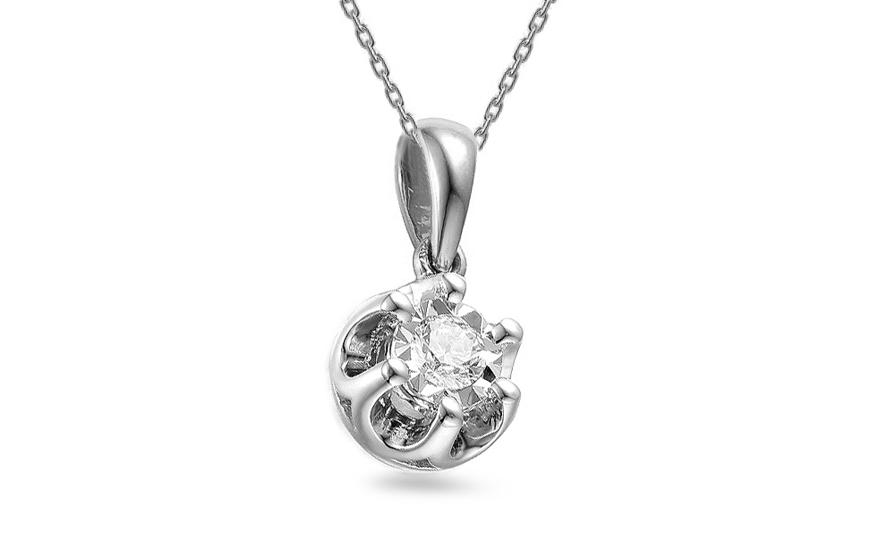 8715e1229 iZlato Forever Diamantový prívesok z bieleho zlata 0.090 ct IZBR061AAP