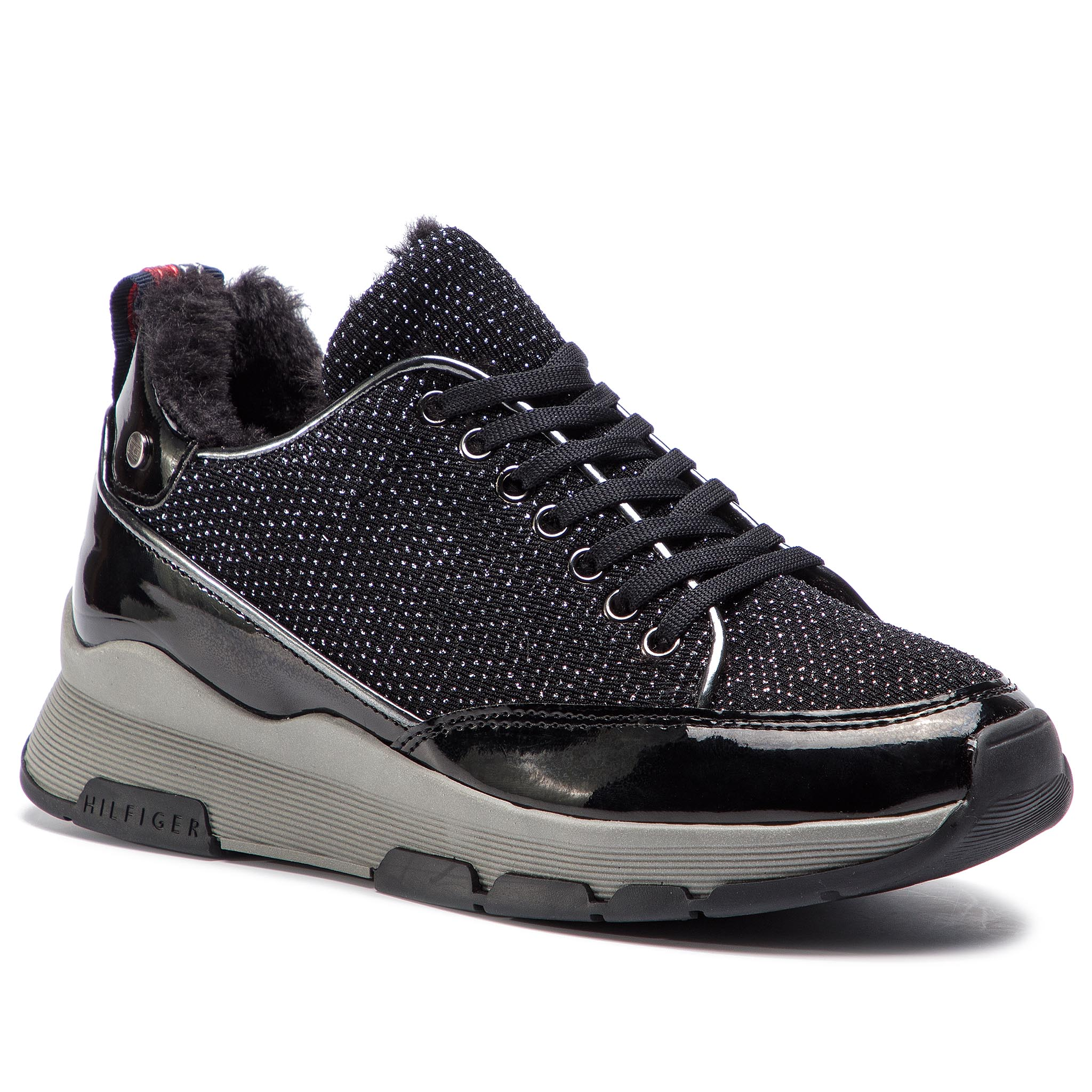 Sportcipő TOMMY HILFIGER - Cool Glitter Sneaker FW0FW03969 Black 990 ... 189633ba52