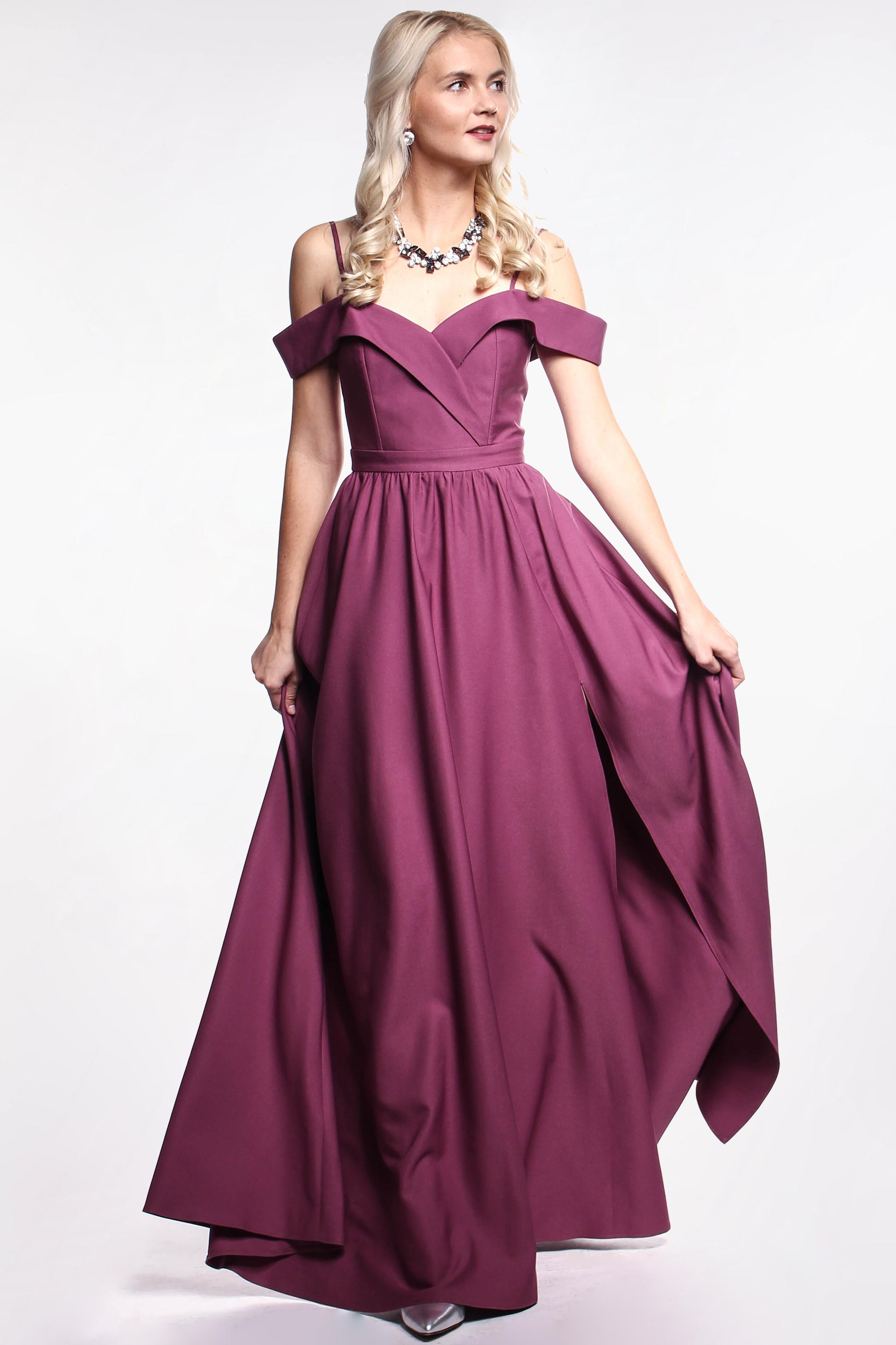 EMO Fialové plesové šaty - Glami.sk 0cf88b2f217