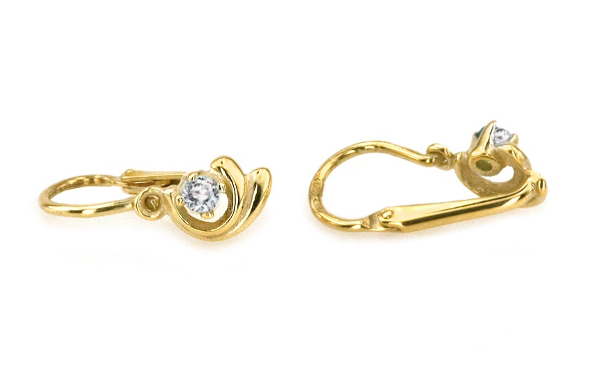e74f5fb86 iZlato Forever Zlaté náušnice pre dievčatko so zirkónmi 1-236-0421Z ...