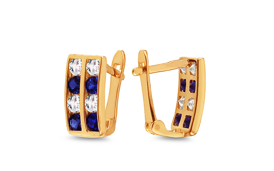 54069caa4 iZlato Forever Zlaté detské náušnice s modrými kamienkami IZ10357. iZlato  Forever Zlaté detské náušnice s modrými kamienkami IZ10357