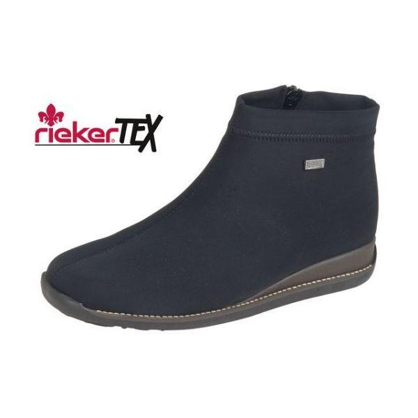 4ed2082849ef Rieker Čierne členkové topánky na nízkom podpätku - Glami.sk