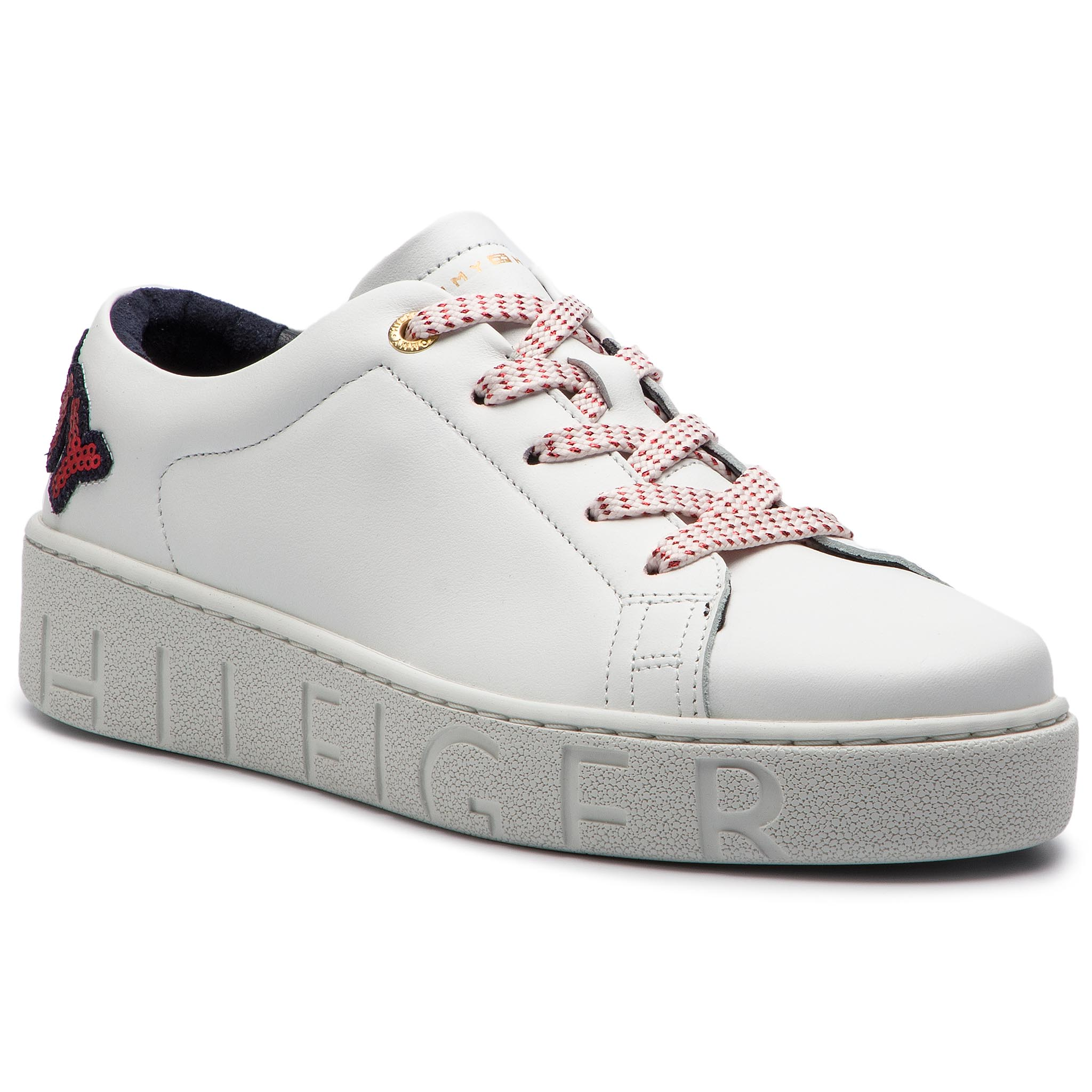 876623d481 Sneakersy TOMMY HILFIGER - Tommy Fashion Sneaker FW0FW03689 White ...