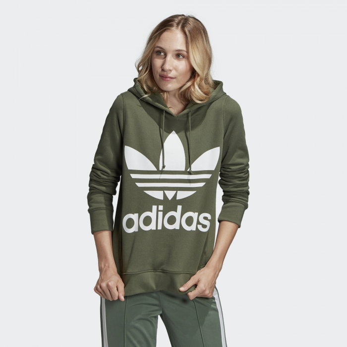 Dámska mikina adidas Originals TREFOIL HOODIE (Olivová) - Glami.sk 6b1592f9382