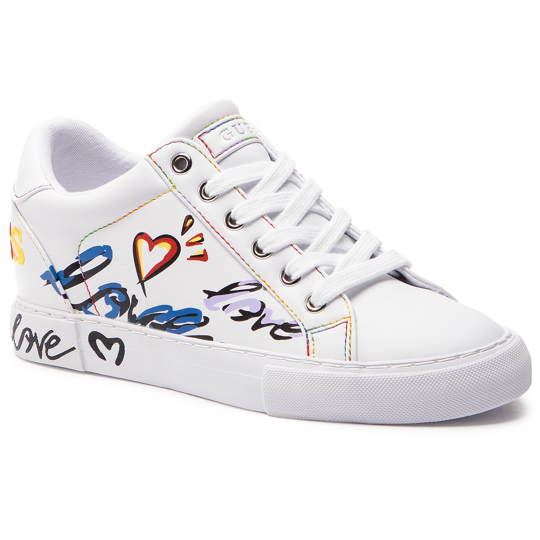 ee26f1c52c Sneakersy GUESS - FL5PXT ELE12 WHITE - Glami.sk