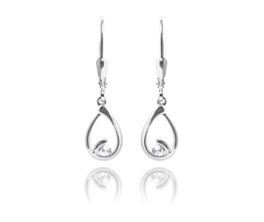 Stříbrné náušnice MINET KAPKY s bílými zirkony - Glami.cz d6699bf6506