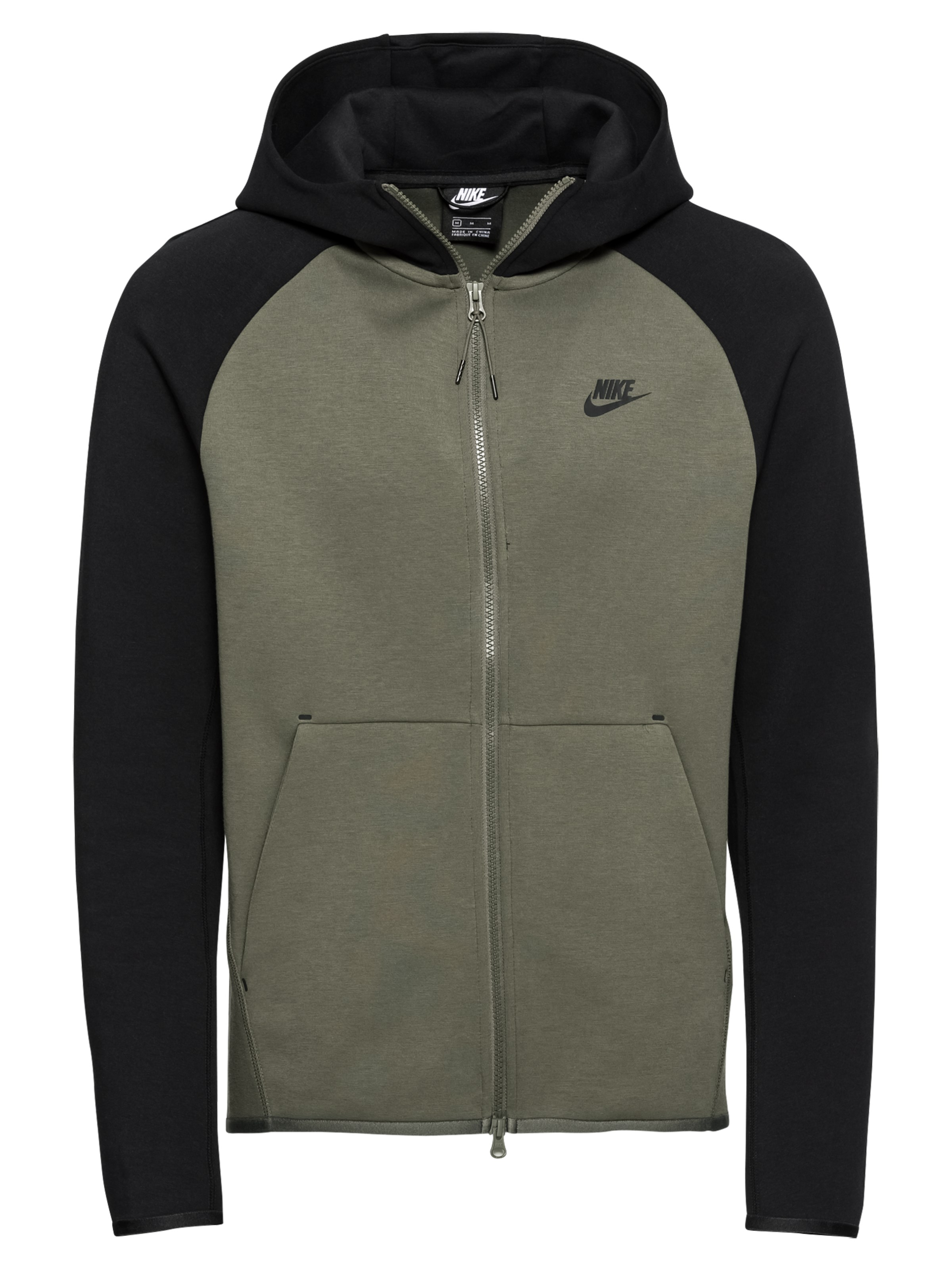 da2a5172a1af1 Nike Sportswear Tepláková bunda 'M NSW TCH FLC HOODIE FZ' Zelená ...