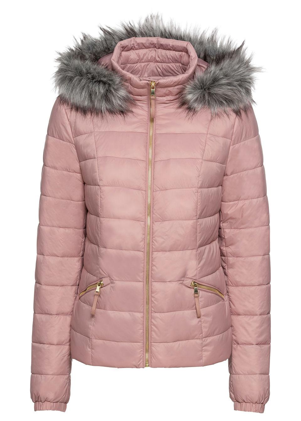 Bonprix Prešívaná bunda s kapucňou a kožušinovým golierom - Glami.sk 71705dee15a