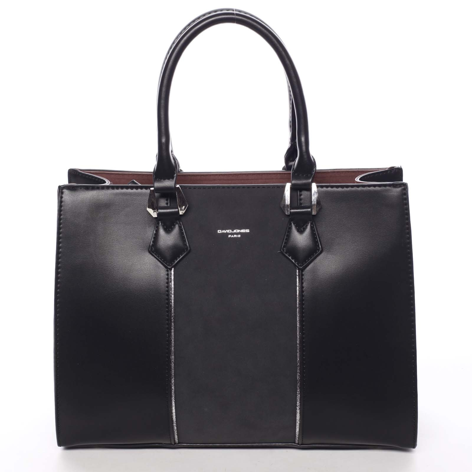 Elegantná dámska čierna kabelka do ruky - David Jones Zeruiah čierna ... d783d63f7ec