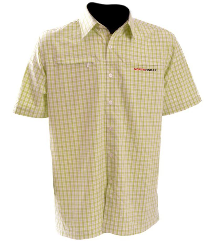 9eac10b13bcb NORTHFINDER DIEGO Pánska košeľa KO-3015OR5080 trávovo zelená S ...