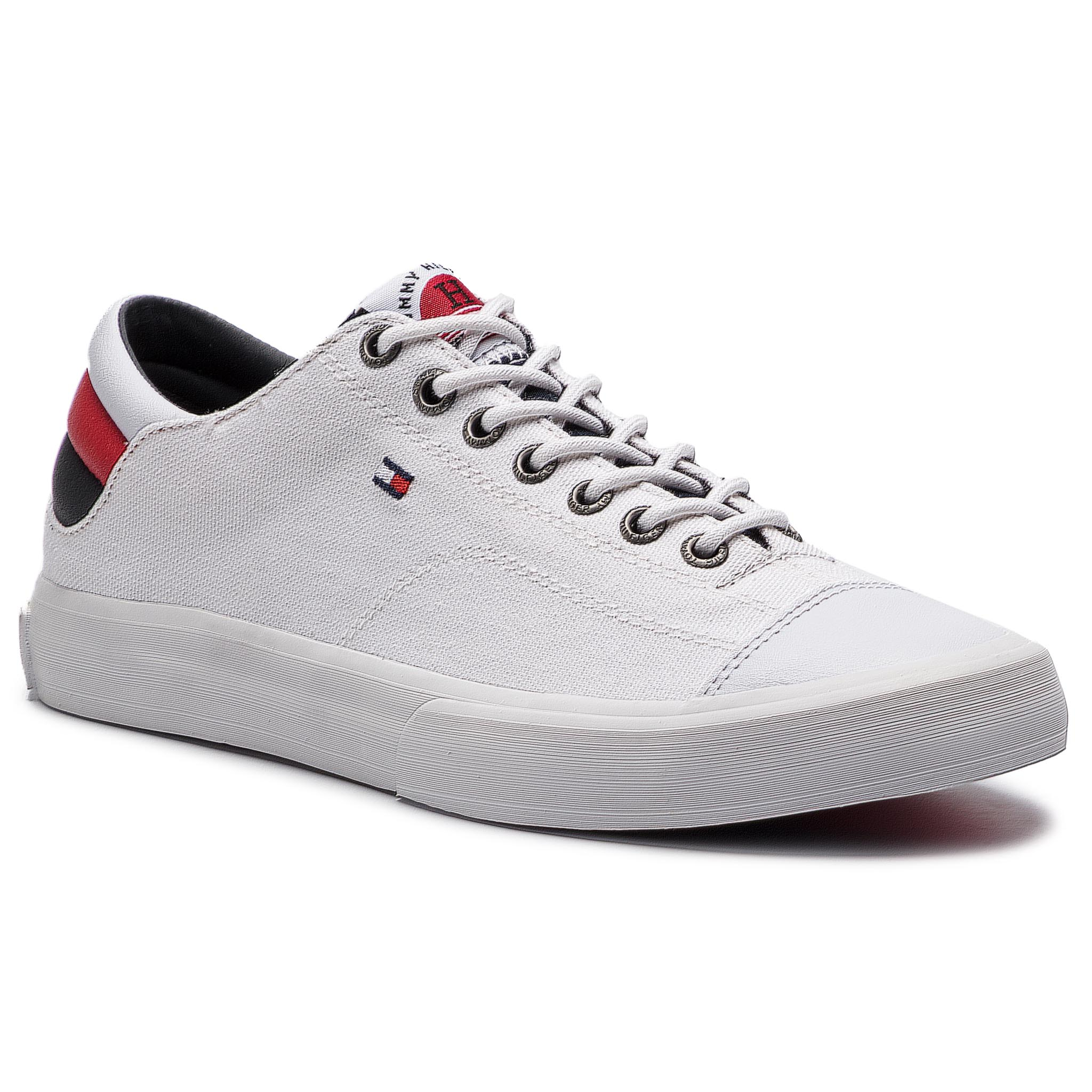 65d672b6a82e Tenisky TOMMY HILFIGER - Long Lace Sneaker FM0FM01947 White 100 ...
