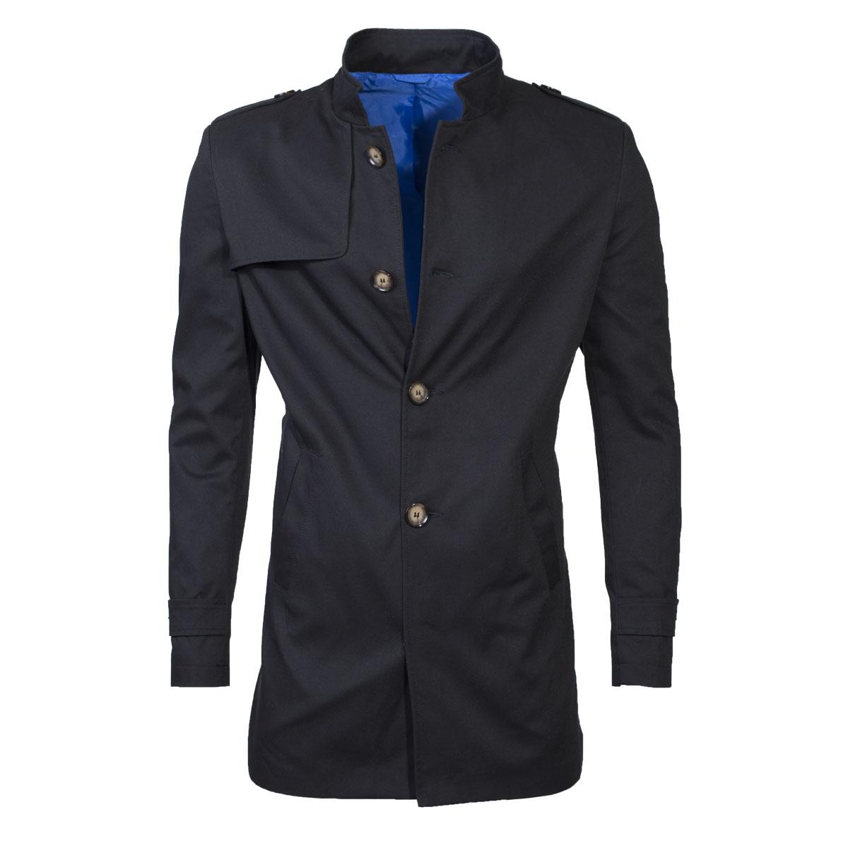 Ombre Clothing Férfi őszi kabát öltönyhöz Eliot fekete - Glami.hu 8030c392c4
