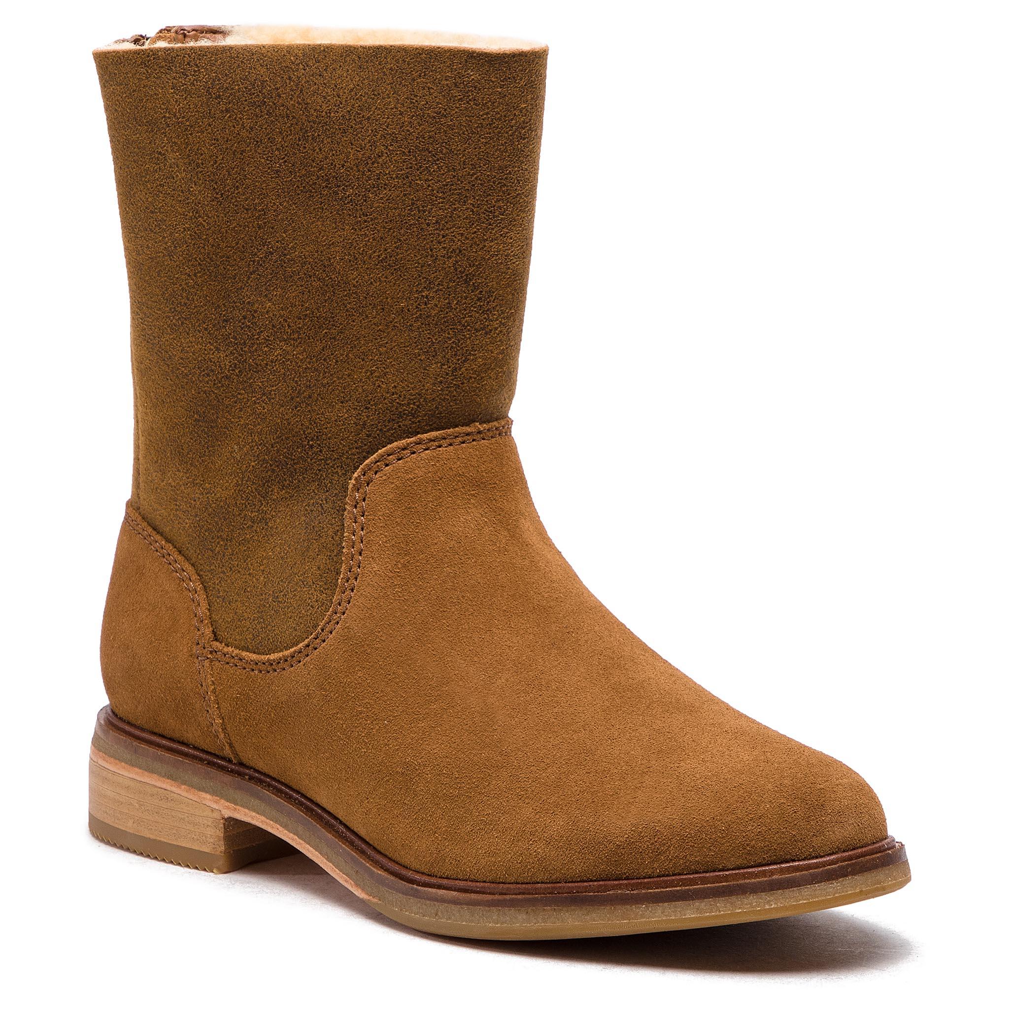 Magasított cipő CLARKS - Clarkdale Axel 261364174 Dark Tan Suede ... 3c3897d088