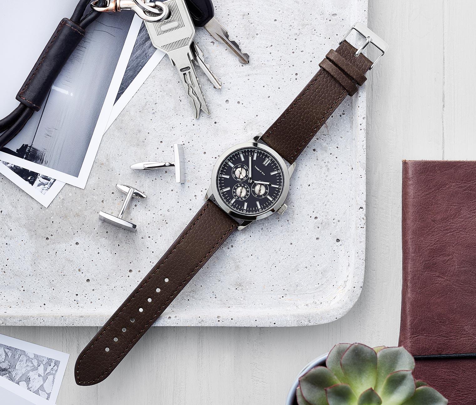 b93b1c2ec Tchibo Multifunkční pánské hodinky - Glami.cz