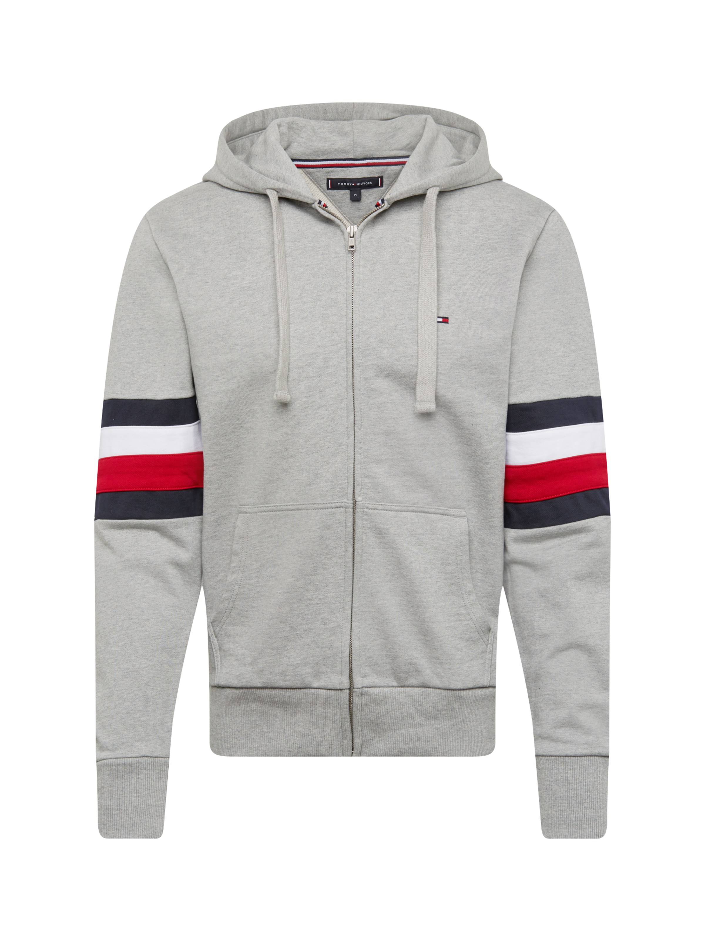 7ae0c323de TOMMY HILFIGER Mikina s kapucí  RELAXD PIECED HOODED ZIP THROUGH ...