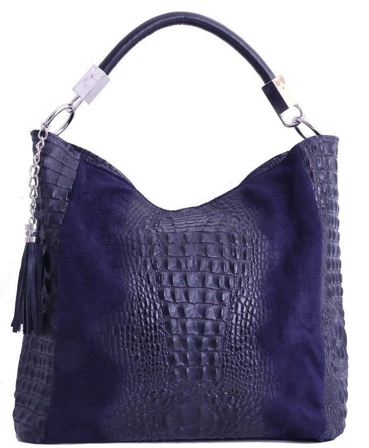 03b3c8d389 TALIANSKE Talianska shopperka kožená kabelka veľká na plece a do ...