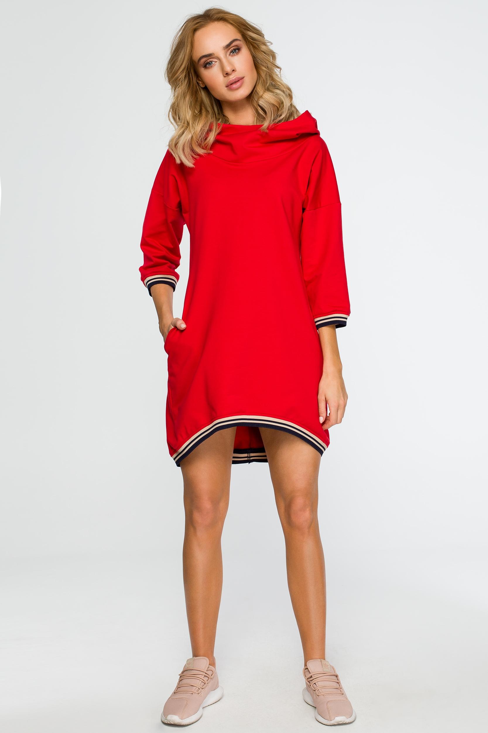 04cd8cf552d8 Červené šaty Moe 401 - Glami.sk