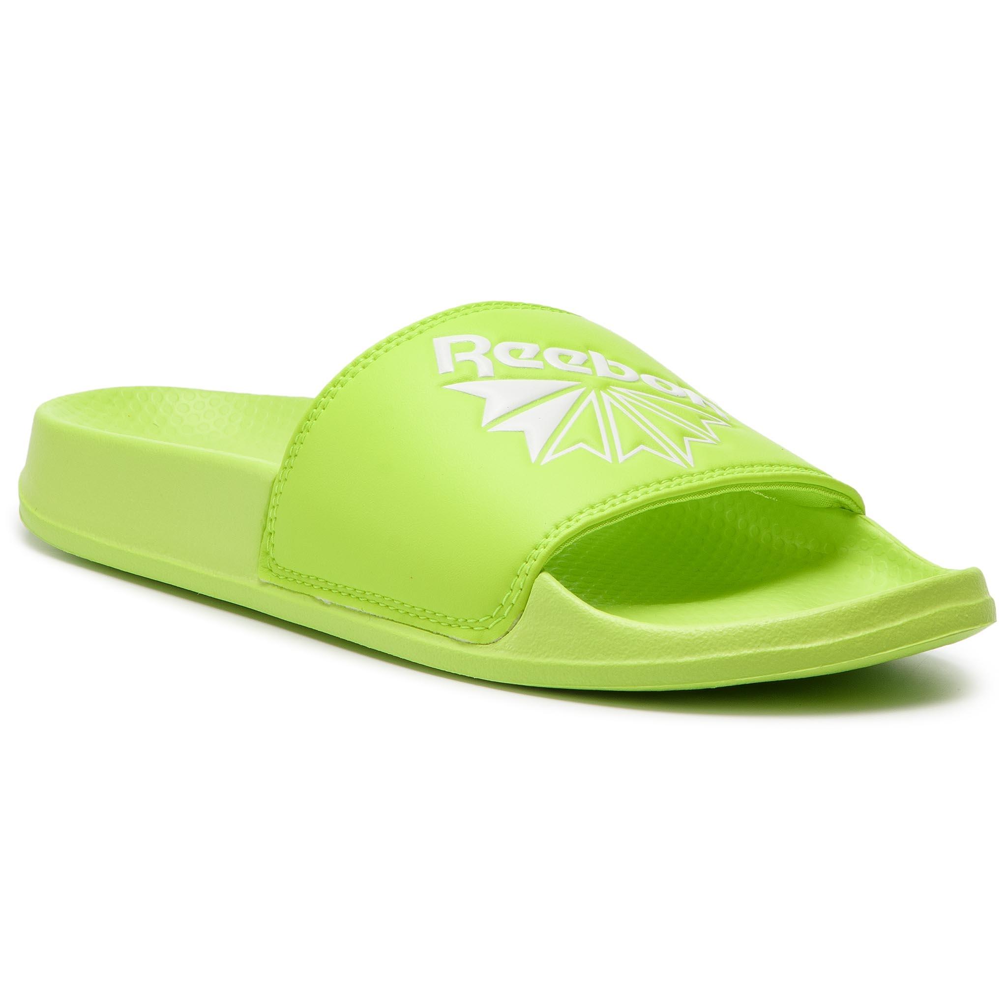 Šľapky Reebok - Classic Slide DV4100 Neon Lime White - Glami.sk a9b1a907f6a