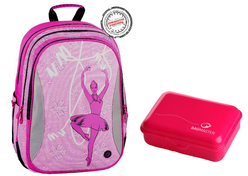 225054455ec Školní batoh Bagmaster EV07 0114 B Pink + doprava zdarma + box na svačinu  zdarma